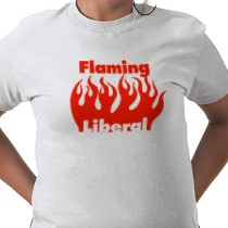 Flaming liberal shirt